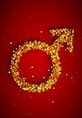 Golden man gender symbol