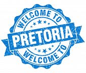 Welcome To Pretoria Blue Vintage Isolated Seal