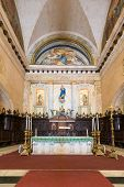 HAVANA,CUBA - JULY 9, 2014 :Detail of the altar at the Cathedral of Havana