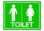 Toilet Symbol Male and Female Icon