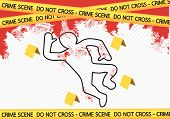 picture of crime scene  - an images of  Crime scene danger tapes illustration - JPG