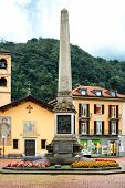 BELLINZONA, SWITZERLAND - JULY 4, 2014: Piazza Indipendenza, Bellinzona. Formerly Piazza San Rocco,