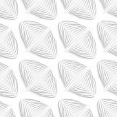 White Diagonal Onion Shape Seamless Pattern