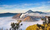 Bromo Mountain In Tengger Semeru National Park, East Java, Indonesia