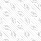 White Simple Wavy With Small Details Seamless Pattern