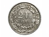 Two Swiss Francs coin