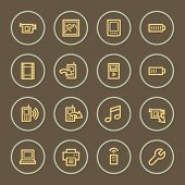 Mobile content web icons set, coffee series