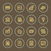 Banking web icons set, coffee series