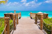 Beautiful tropical landscape on Providenciales Island in the Turks and Caicos, Caribbean