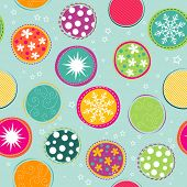 Seamless Christmas pattern, vector illustration