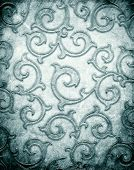 Silver metal pattern on paper background (vintage collection)