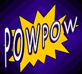 Pow Pow, Comic Retro Book Speech Bubble.