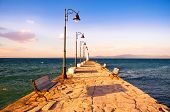 Pier in the evening - Pefkohori, Greece