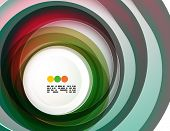 Geometric colorful circles background with copyspace