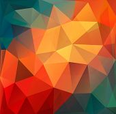 Colorful Polygon abstract background.