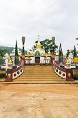 stock photo of shan  - Shan Pagoda In Wat Fah Wiang In - JPG