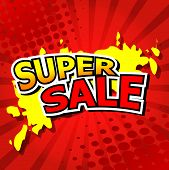 Super sale background with red.