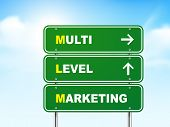 3D Multi Level Marketing Road Sign