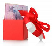 Gift box with banknotes