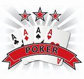 poker card design illustration