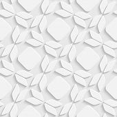 Abstract Bow Pattern. Seamless White Background
