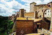 Walls of Pitigliano town
