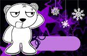 angry polar bear cartoon xmas background