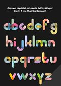 Abstract alphabet ( style 1 ), small letters ( 10eps )