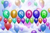 German Children Birthday Balloon Colorful Balloons