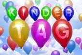 German Children Day Balloon Colorful Balloons
