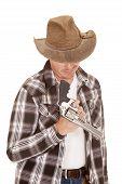Cowboy Twirl Gun On Finger