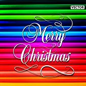 Merry christmas pencil background.