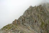 Rock In Clouds Nearby Sustenpass