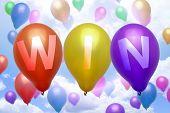 Win Balloon Colorful Balloons