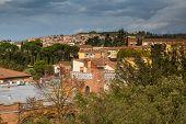 Panorama of Siena, Italy