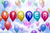 Winner Balloon Colorful Balloons