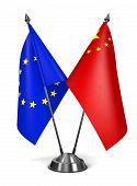 EU and China - Miniature Flags.