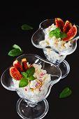 Curd Dessert With Sliced Fruit