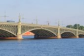 Trinity bridge in St. Petersburg