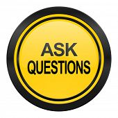 ask questions icon, yellow logo,