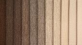 Upholstery textile materials variety shades of brown