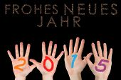 Hands against glittering frohes neues jahr