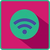 Vector wi fi web flat icon.