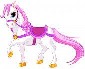 Very cute pink princess horse