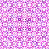 Abstract vector background Magenta hand drawn delicate seamless ornament on white