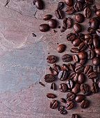 picture of slating  - Coffee beans on a slate - JPG