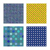 Seamless tiling dot fabric textures