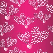 Abstract Seamless Background To The Valentine's Day.