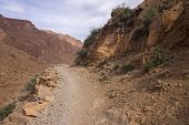 Mountain Path In High Atlas Mountains