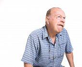 Expressive Old Man